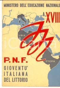 1940 PRIOCCA (CN) GIL Pagella scuola elementare di Antonietta GARABELLO