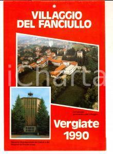 1990 VERGIATE Villaggio del Fanciullo - Calendario da parete ILLUSTRATO
