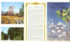 1950 ca PALLANZA Giardini di VILLA TARANTO Pieghevole ILLUSTRATO VINTAGE
