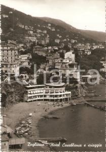 1961 BOGLIASCO (GE) Hotel CASABLANCA e spiaggia *Cartolina FG VG