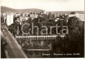 1962 LAVAGNA (GE) Panorama della città con Giume EUTELLA *Cartolina FG VG