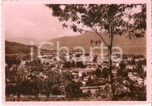 1952 LUINO (VA) Panorama con LAGO MAGGIORE *Cartolina FG VG