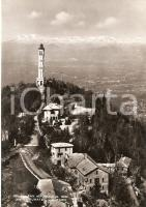 1955 ca BRUNATE Frazione SAN MAURIZIO Panorama con Faro Voltiano Cartolina FG NV