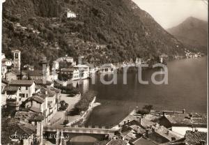 1957 ARGEGNO (CO) Panorama con Lago di Como *Cartolina FG VG