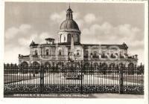 1958 CARAVAGGIO (BG) Santuario Beata Vergine - Fronte principale Cartolina FG VG