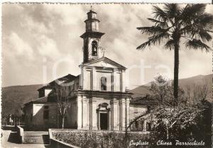 1956 CUGLIATE FABIASCO (VA) Panorama con palma e Chiesa *Cartolina FG VG