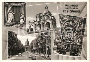 1961 CARAVAGGIO (BG) Santuario della Beata Vergine Vedutine *Cartolina FG VG