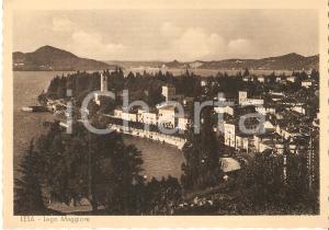 1960 ca LESA (NO) Panorama con LAGO MAGGIORE *Cartolina FG NV