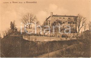 1930 ca BRUNO (AT) Panorama con il castello *Cartolina FP NV