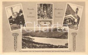 1925 ca OSSUCCIO (CO) Santuario Madonna del Soccorso Vedutine *Cartolina FP NV