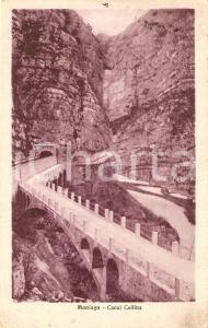 1927 MANIAGO (PN) Panorama con CANAL CELLINA *Cartolina FP VG