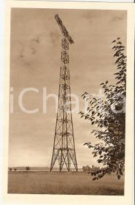 1940 ca ARENA PO (PV) Pilone di sostegno linea elettrica sul PO *Cartolina FP VG