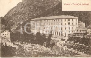 1910 ca CUNEO Carrozza davanti alle Terme di VALDIERI *Cartolina FP NV