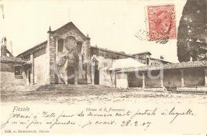 1907 FIESOLE (FI) Chiesa di SAN FRANCESCO *Cartolina FP VG