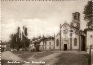 1958 SANDIGLIANO (BI) Chiesa parrocchiale Vedute generale *Cartolina FG VG