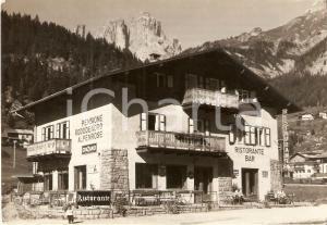 1967 CAMPITELLO DI FASSA Pensione RODODENDRO Insegna CINZANO *Cartolina FG VG