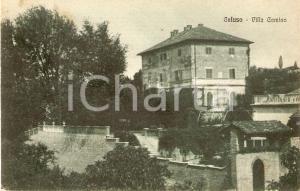 1925 ca CALUSO (TO) Panorama con VILLA CAMINO *Cartolina FP NV