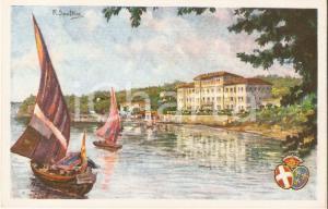1925 OLTRA (TS) Ospedale marino Duchessa Elena d'Aosta CROCE ROSSA *Cartolina FP