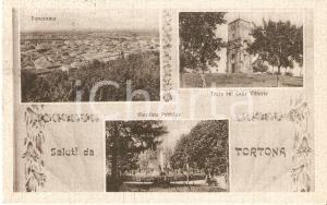 1944 TORTONA (AL) Vedutine Torre su COLLE VITTORIO e Giardino *Cartolina FP VG