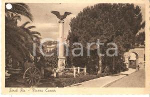 1950 FINALE LIGURE (SV) Panorama di FINALE PIA e Piazza Caour *Cartolina FP VG