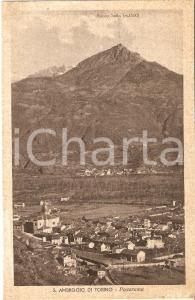 1940 SANT'AMBROGIO DI TORINO Panorama del paese *Cartolina FP VG