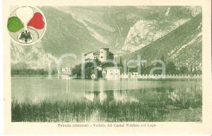 1917 CALAVINO (TN) Panorama di Castel TOBLINO e lago  *Cartolina FP NV