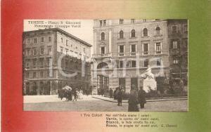 1914 TRIESTE Monumento a Giuseppe VERDI in Piazza San Giovanni *Cartolina FP VG