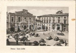 1955 POTENZA Auto parcheggiate davanti al Teatro STABILE *Cartolina FG VG
