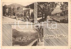 1950 ca TORRE PELLICE Vedutine Chiesa Valdese Monastero ARNAUD *Cartolina FG VG