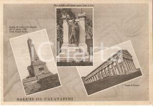 1938 CALATAFIMI (TP) Vedutine Ossario dei Caduti Tempio SEGESTA *Cartolina FG NV
