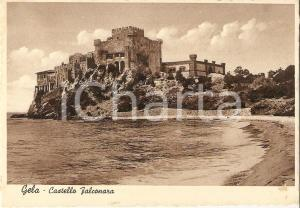1938 GELA (CL) Panorama con Castello FALCONARA *Cartolina FG NV