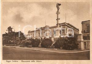 1935 ca REGGIO CALABRIA Monumento della Vittoria *Cartolina FG NV