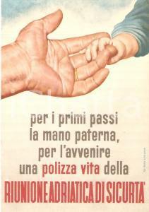 1949 RIUNIONE ADRIATICA DI SICURTA' Polizza sulla vita *Cartolina ILLUSTRATA FG