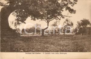 1929 SORIANO NEL CIMINO (VT) Castello visto dalla montagna *Cartolina FP VG