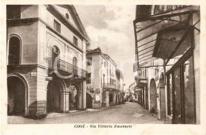 1940 ca CIRIE' (TO) Farmacia in Via Vittorio Emanuele *Cartolina FP NV