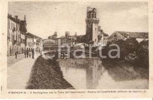 1930 ca PADOVA Bacchiglione e Torre dell'Osservatorio *Cartolina FP NV