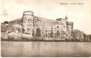 1925 SIRACUSA Castello MANIACE Panorama *Cartolina FP VG