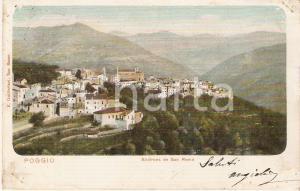 1905 ca SANREMO (IM) Frazione di POGGIO Panorama *Cartolina FP VG