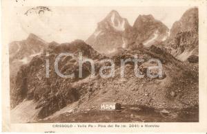 1932 CRISSOLO (CN) Monviso e PIAN DEL RE Valle Po *Cartolina FP VG