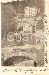 1903 SANREMO (IM) Scorcio con vecchi ponti *Cartolina FP VG