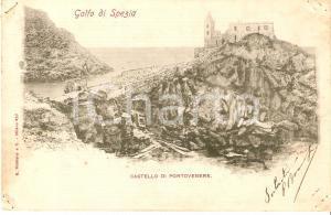1905 ca PORTOVENERE (SP) Panorama con il Castello *Cartolina FP VG