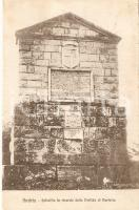1920 ANDRIA (BA) Epitaffio in ricordo della Disfida di BARLETTA *Cartolina FP VG