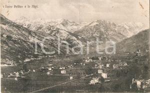 1920 TORRE PELLICE (TO) Panorama con le ALPI *Cartolina FP VG
