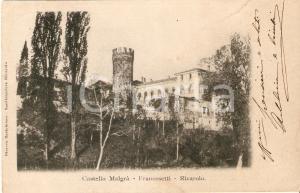 1904 RIVAROLO CANAVESE (TO) Castello MALGRA' - FRANCESETTI *Cartolina FP VG