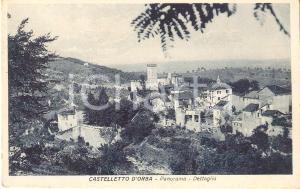 1932 CASTELLETTO D'ORBA (AL) Panorama del paese *Cartolina FP VG