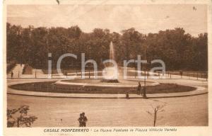 1928 CASALE MONFERRATO Nuova fontana in Piazza Vittorio Veneto *Cartolina FP VG