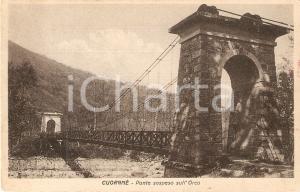 1944 CUORGNE' (TO) Ponte sospeso su fiume ORCO *Cartolina FP VG