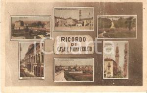 1915 ca CASALE MONFERRATO (AL) Vedutine Gran Torre del Comune *Cartolina FP VG