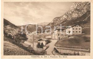 1930 ca TESERO (TN) Pensione RIO STAVA Panorama *Cartolina FP NV