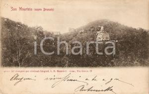 1905 ca SAN MAURIZIO sopra BRUNATE (CO) Panorama *Cartolina FP VG
